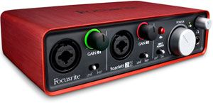 Focusrite Scarlett 2i2 2 In/2 Out USB Recording Audio Interface $149.95