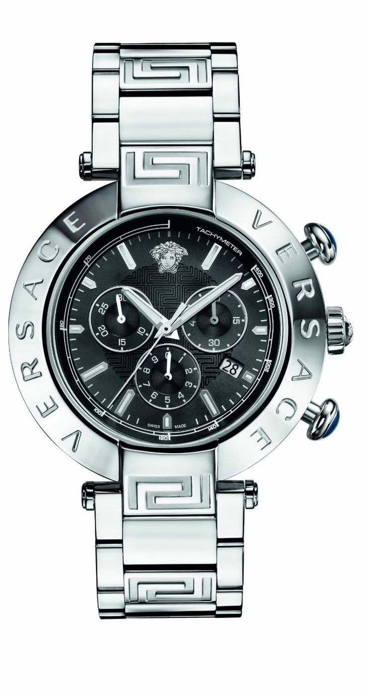 Versace #Mens Reve Chrono, Round, Stainless Steel, Date #Watch