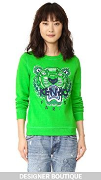 New KENZO Embroidered Tiger Sweatshirt online. Find the  great Fleur du Mal Clothing from top store. Sku qpje67344nfre74710