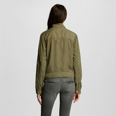 Women's Utility Jacket Olive Xxl - Mossimo Supply Co. (Juniors'), Green