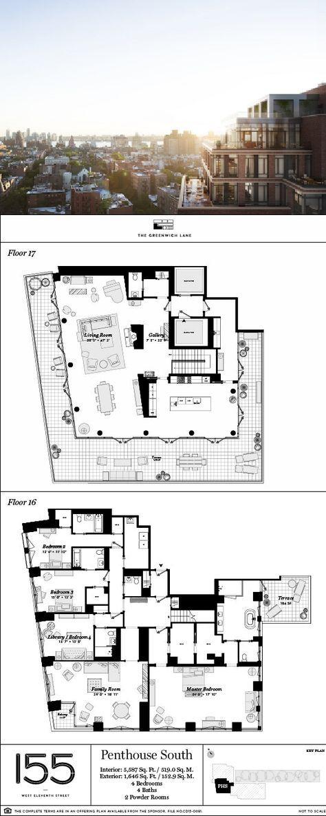 155 West 11th Ph Fav Design Pinterest House Plans Apartment Floor And Pent