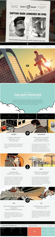 Unique Web Design, Captain Dash #WebDesign #Design (http://www.pinterest.com/aldenchong/)