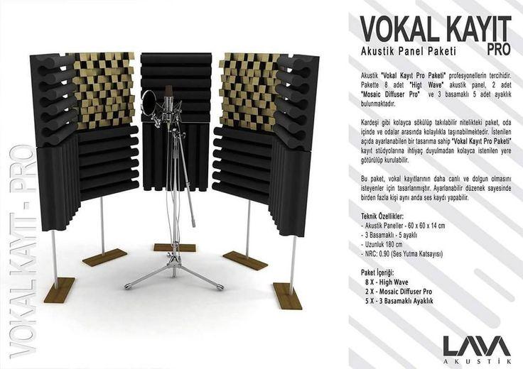Vokal Kayıt Pro Akustik Panel Paketi www.muzikenstrumani.com #lavaakustik #lava #akustik #acoustic #acustic #panel #music #akustikdüzenleme