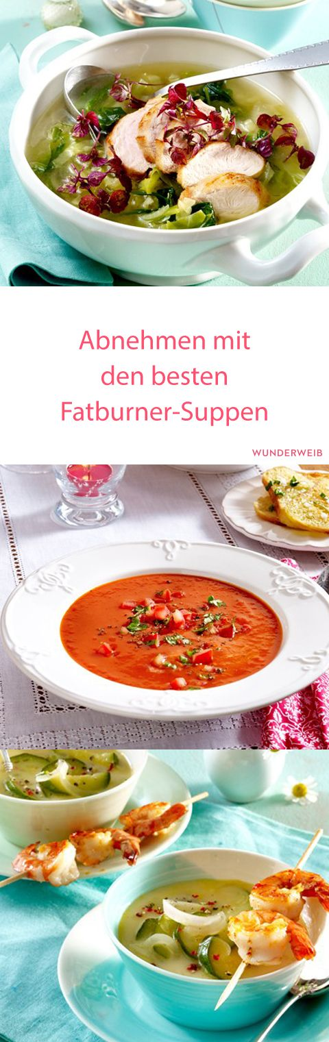 Mit diesen Fatburner-Suppen lösen sich die Pölsterchen quasi in Luft auf! #abnehmen #diät #fatburner