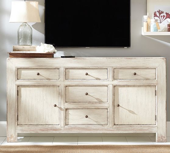 Dawson Large Media Console - Weathered White | Pottery Barn - 30 Best TV Consoles Images On Pinterest Tv Consoles, Media