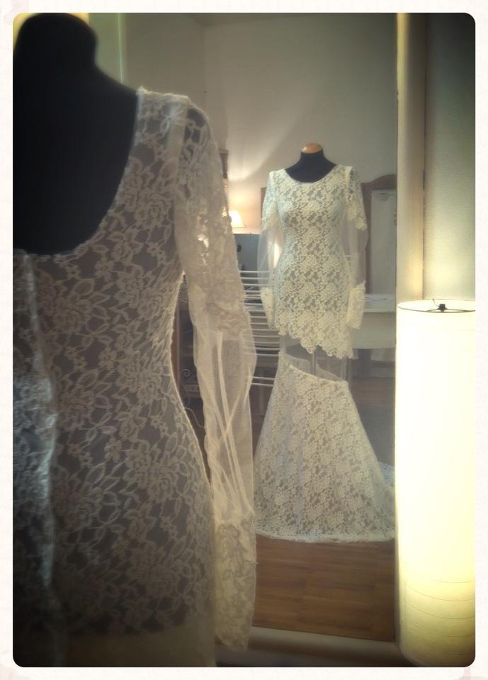 """LACE ON SKIN"" - bridal mermaid dress"