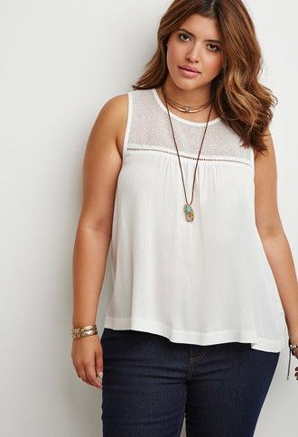 Loose Knit-Paneled Top | Forever 21 PLUS - 2000172203