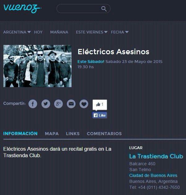 Gracias Vuenos Airez! http://www.vuenosairez.com/ar/ciudad-de-buenos-aires/agenda/el%C3%A9ctricos-asesinos/121593  #vuenosairez #electricosasesinos #EA @FestivalesBA #CiudadEmergente