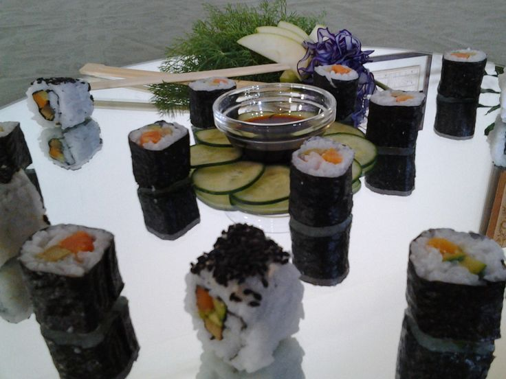 Vegeterian Sushi #wedding