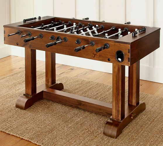 Pb Foosball Table Essentials Rustic Mahogany Finish