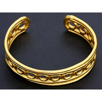 Jean Mahie 22K Yellow Gold Simple Cuff Bracelet BZvpx