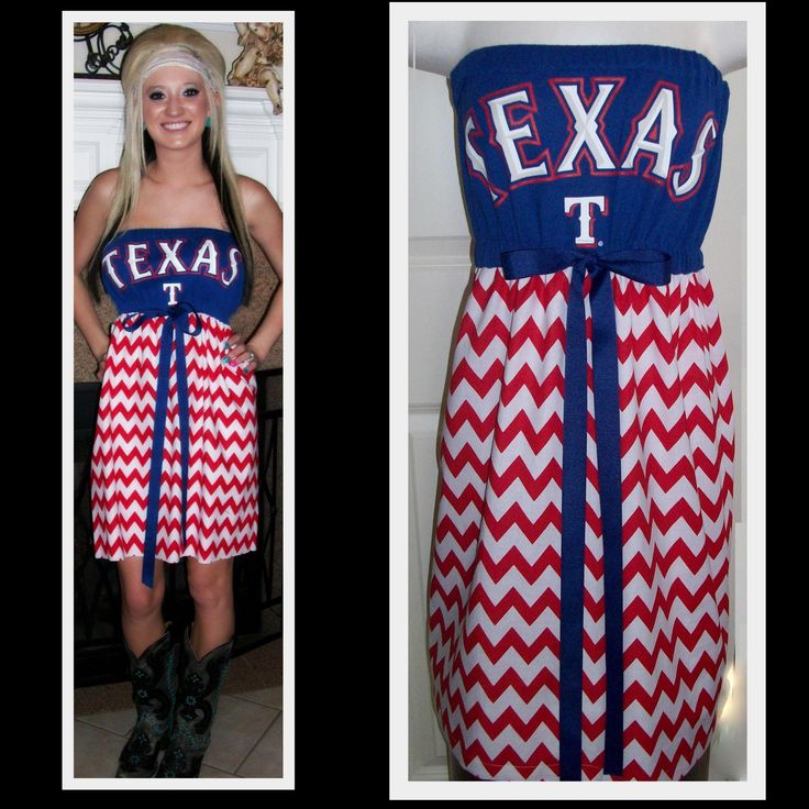 Texas Rangers Baseball Game Day Dress $55