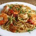 Как приготовить паста с креветками и сыром - рецепт, ингридиенты и фотографии