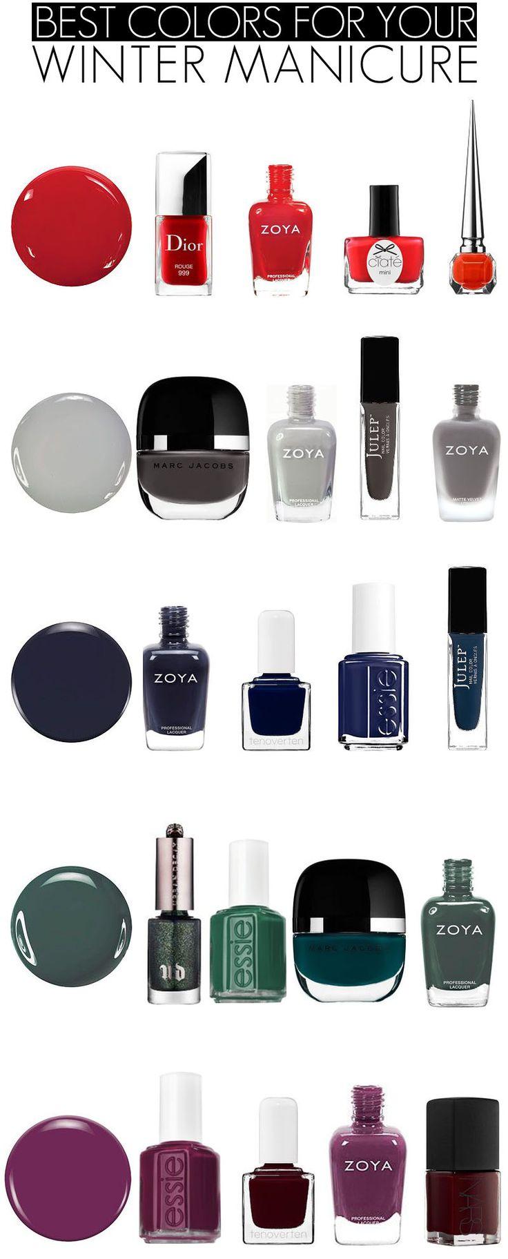 Best Winter Manicure Colors