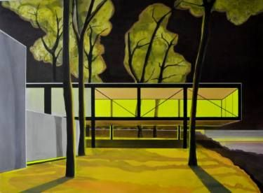 """Saatchi Art Artist Cécile van Hanja; Painting, """"Shadows in the night ( At the Lisa Norris Gallery)"""" #art"""