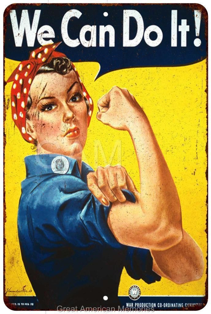We Can Do It! Vintage Look Reproduction 8x12 Metal Sign 8120944