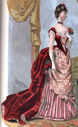 1886 evening gown by , via Flickr