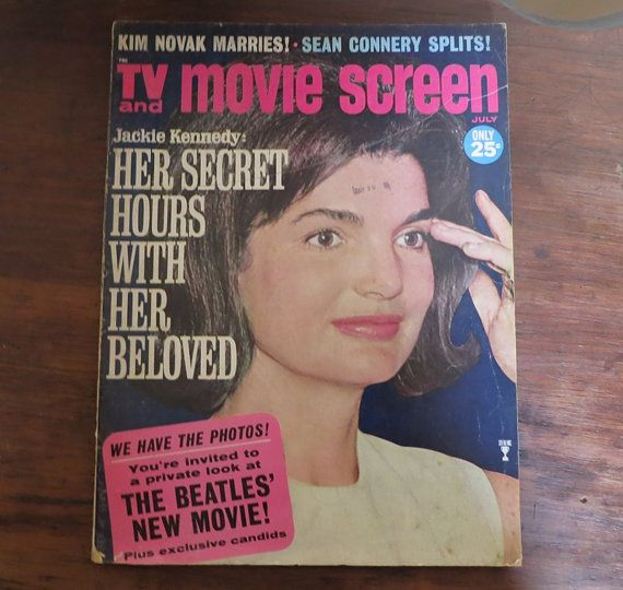TV and Movie Screen magazine July 1965 - The Beatles, Jackie Kennedy - Hollywood Gossip Scandal by dandelionvintage, $16.00