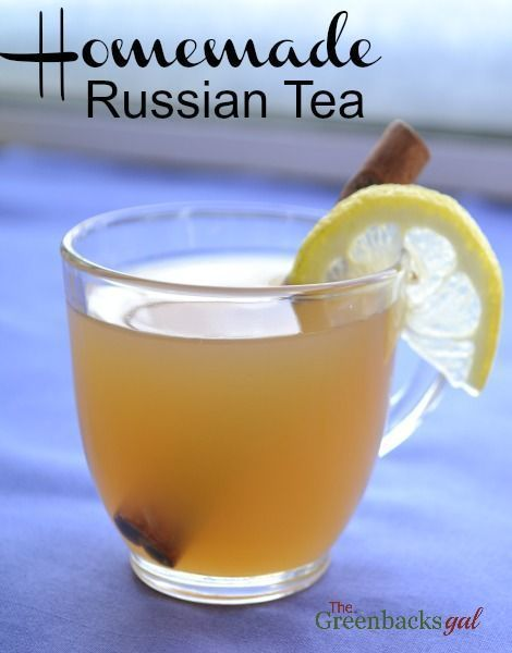Homemade Russian Tea Recipe made without powdered mixes. Make your childhood favorite with real ingredients. Best served on a snow day while curled up with a book.