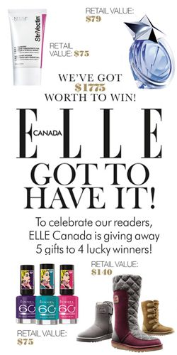 Win great prizes from Elle this September!