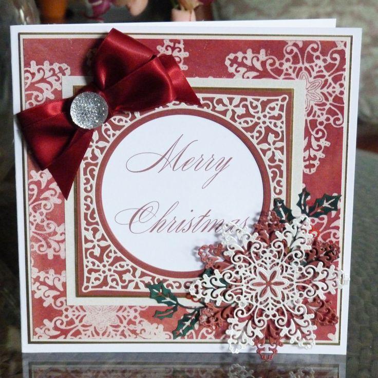 Krystal (D412), Christmas Florals Holly (D437) www.tatteredlace.co.uk