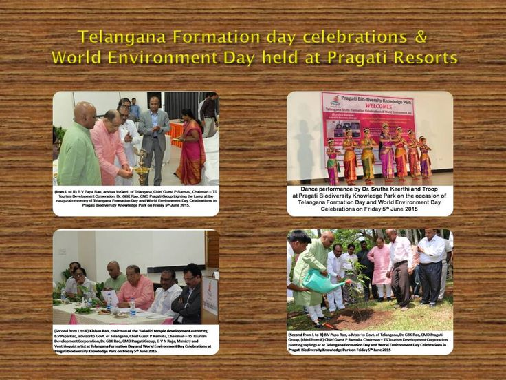 B.V Papa Rao, advisor to Govt. of Telangana called for integrating the Telangana Formation and World Environment Day Celebrations, since every year it is going to coincide with each other.