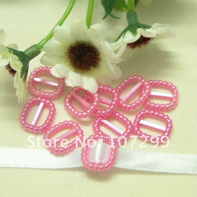 Shipping-100pcs розовый прямоугольная форма свадьба благосклонности благосклонности коробка декор жемчуг пряжка свадьба приглашение лента слайдер