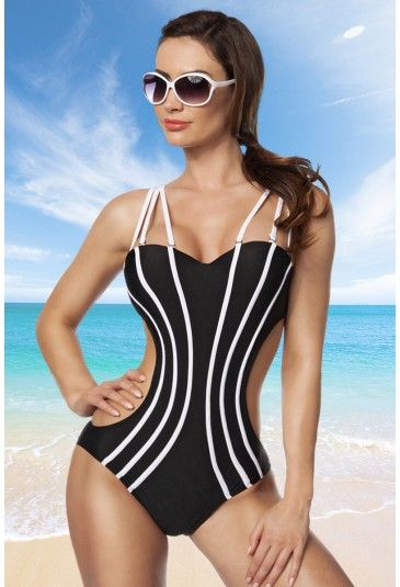 Monokini with removable straps