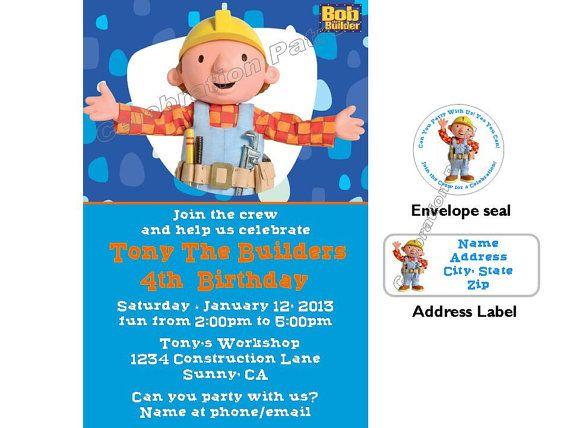 Bob The Builder Birthday Invitations Choice Image Invitation – Bob the Builder Party Invitations