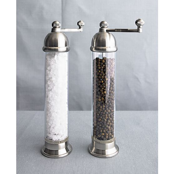 Otto Salt and Pepper Mill in Top Kitchen Prep | Crate and Barrel