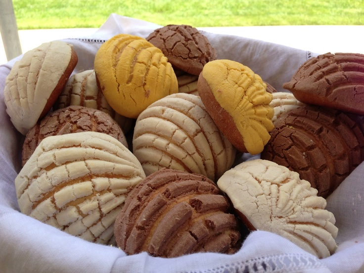 Conchas are truly an authentic Mexican bakery treat. You can make them at home or you can buy them ready made ( http://www.mexgrocer.com/19145.html ). Either way, they are delicious!
