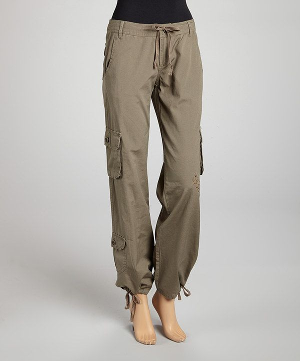 womens khaki cargo pants take a look at this khaki cargo on zulily today 12129