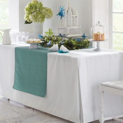 Pleated Table Cover For Folding Table