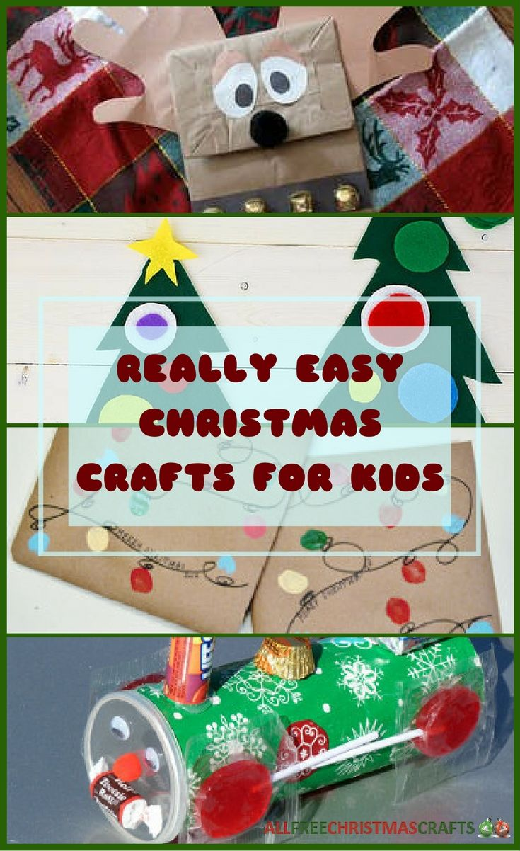 How to make a christmas decor out of recycled materials - 37 Really Easy Christmas Crafts For Kids