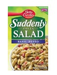 Suddenly Salad Basil Pesto - add cold cubed chicken, diced cucumbers & feta cheese, it is the perfect cold pasta salad for dinner during these hot summer months!!
