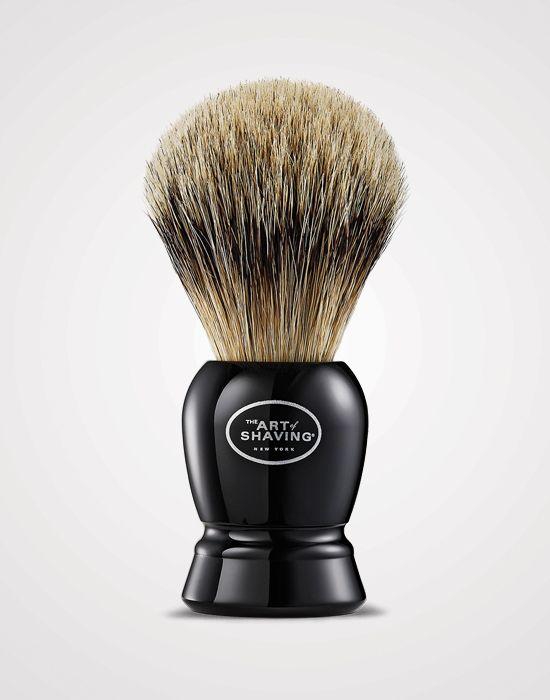 The Art of Shaving Black Fine Shaving Brush http://www.menshealth.com/grooming/best-beard-products/slide/7