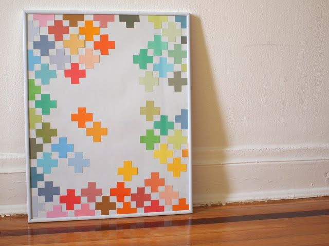 paint chip wall art by Pink Stripey Socks