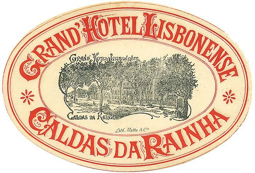 Grand Hotel Lisbonense Luggage Label by Art of the Luggage Label, via Flickr