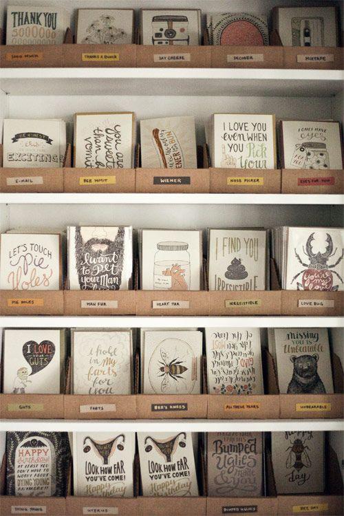 Greeting Card Inventory Storage