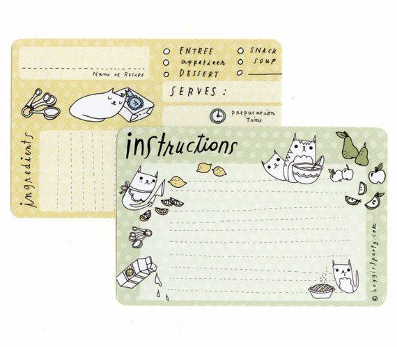 Blank Recipe Cards Recipe Handmade Paper Goods by boygirlparty