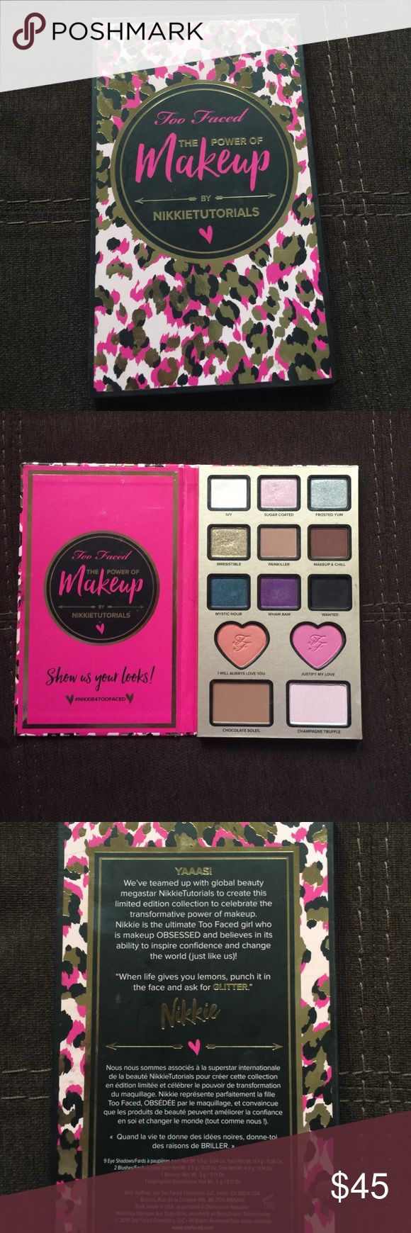 Too faced nikkie tutorials palette Sent to me by the company I do not have the box or glitter just the palette I don't reach out to it rather some one else enjoy it Makeup Eyeshadow