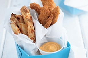 Oven-Fried Chicken Fingers and Fries recipe recipesFries Recipe, Fun Recipe, Easy Dinners, Homemade Fries, Ovenfried Chicken, Dinner Ideas, Chicken Fingers, Ovens Fries Chicken, Quick Dinner