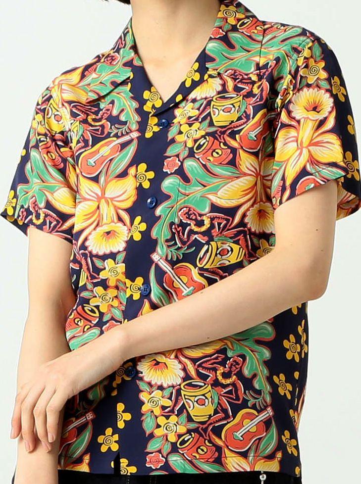 6821ef1e Sun Surf / Beams 2018 Rayon Aloha Shirt, Beams, Hawaiian, Button Down Shirt
