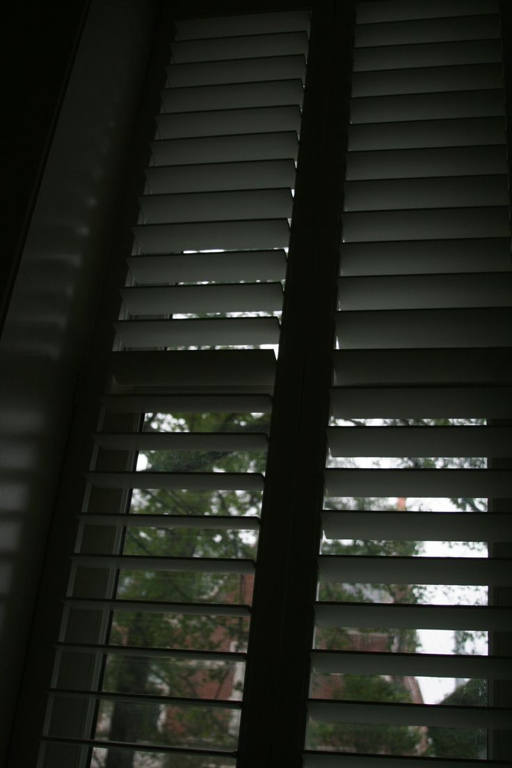 Line. Simple lines from the shutters created an