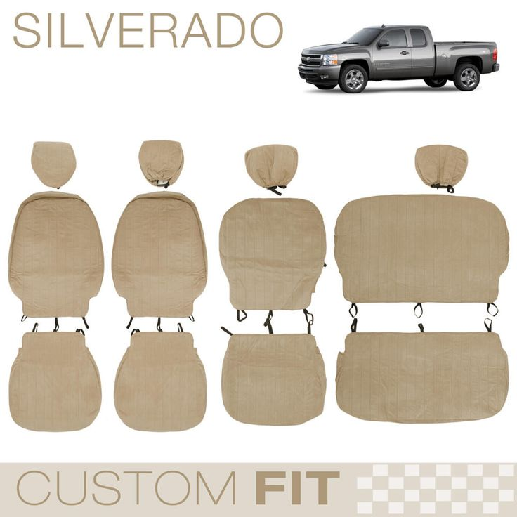BDK Custom Fit Seat Covers for Chevy Silverado - OEM Micro Fit (3 Color)