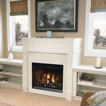 Love the shelving on the sides of the fireplace --- this is what I picture for the fireplace