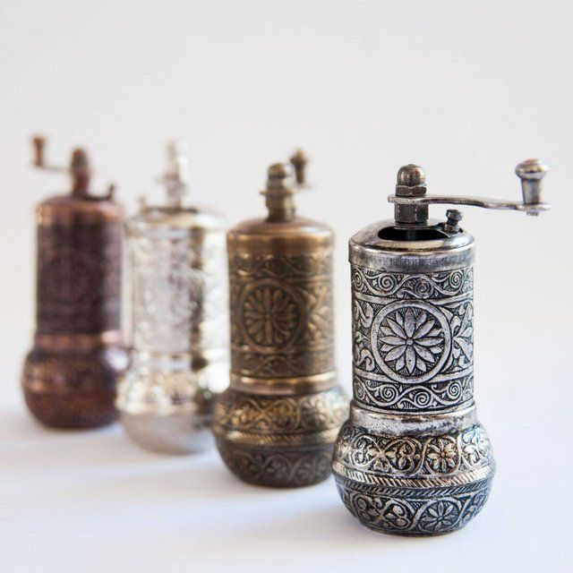 Turkish Traditional Black Pepper, Salt and Spice Grinder