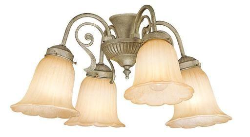 Vaxcel Lighting LK43544GS-C Four Light Ceiling Fan Light Kit in Gilded Silver Finish - Quality Discount Lighting