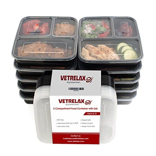 Chefland 3 Compartment Microwave Safe Food Container With