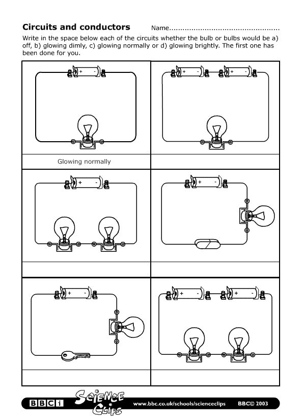 BBC - Schools Science Clips - Circuits and conductors Worksheet